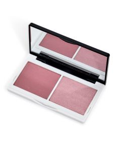 Lily Lolo Naked Pink Cheek Duo: Gluten free, Vegan friendly. Matte Soft Pink, Pink Shimmer