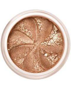 Lily Lolo Brown Sugar Eyes: Vegan friendly, gluten free. A pretty sparkling light golden brown mineral eyeshadow, very sheer.