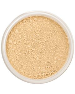 Lily Lolo Butterscotch Mineral Foundation: Gluten free, vegan. A medium foundation shade with yellow undertones.