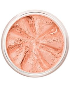 Lily Lolo Cherry Blossom Blush: Gluten free, vegan. A pale, peachy-pink blush with a very subtle shimmer; perfect for paler skin tones.