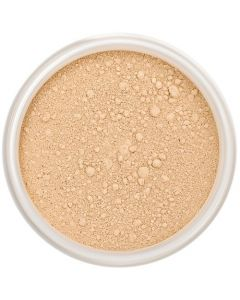 Lily Lolo Warm Honey Mineral Foundation: Gluten free, vegan. A medium foundation shade with warm undertones.